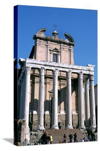 The Temple of Antoninus and Faustina, Rome, 141 Ad--Stretched Canvas Print