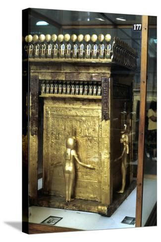 Golden Shrine of the Egyptian Pharoah Tutankhamun, C1325 Bc--Stretched Canvas Print