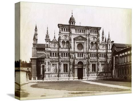 Facade, Church of the Certosa Di Pavia (Charterhouse of Pavi) Lombardy, Northern Italy, 1890--Stretched Canvas Print
