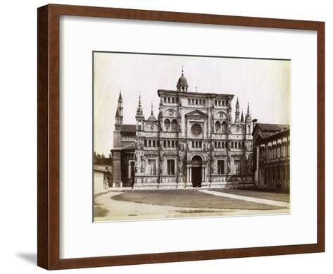 Facade, Church of the Certosa Di Pavia (Charterhouse of Pavi) Lombardy, Northern Italy, 1890--Framed Art Print