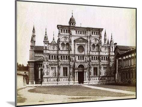 Facade, Church of the Certosa Di Pavia (Charterhouse of Pavi) Lombardy, Northern Italy, 1890--Mounted Giclee Print