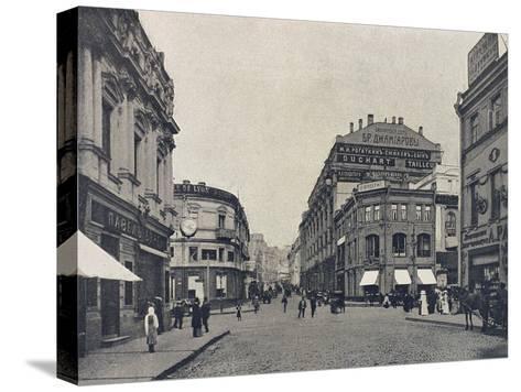 Kuznetsky Most (Blacksmith's Bridg), Moscow, Russia, 1912--Stretched Canvas Print