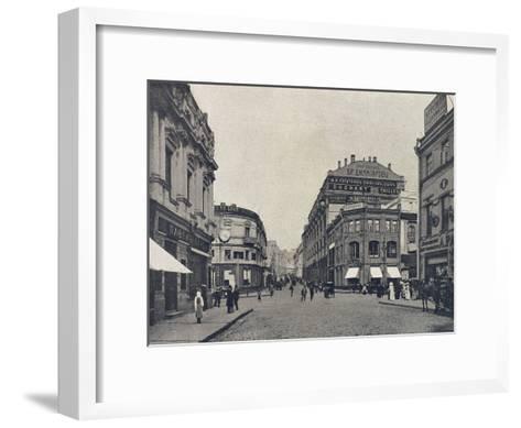 Kuznetsky Most (Blacksmith's Bridg), Moscow, Russia, 1912--Framed Art Print
