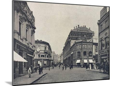 Kuznetsky Most (Blacksmith's Bridg), Moscow, Russia, 1912--Mounted Giclee Print