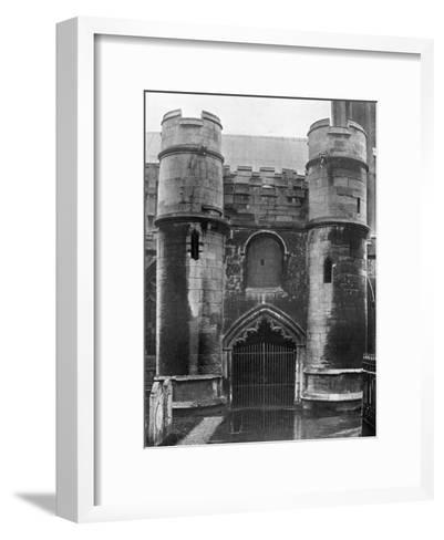 The Porch, Holbeach Church, Lincolnshire, 1924-1926-Valentine & Sons-Framed Art Print