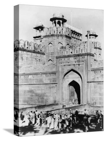Gateway to the Red Fort, Delhi, India, Late 19th or Early 20th Century--Stretched Canvas Print