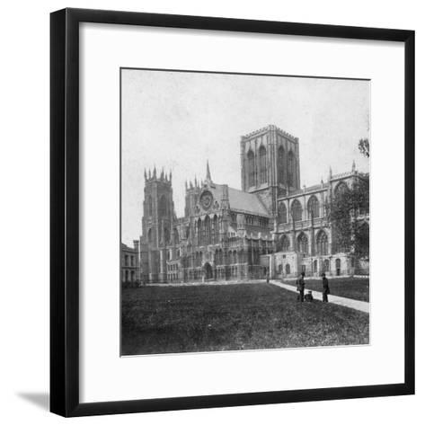 South-East View of York Minster, Yorkshire, Late 19th or Early 20th Century--Framed Art Print