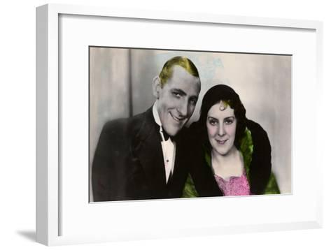 Jack Hulbert (1892-197) and His Wife Cicely Courtneidge (1893-198), English Actors, 20th Century--Framed Art Print