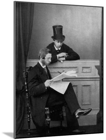 The Prince of Wales and Crown Prince Frederick William of Prussia, Windsor, 1863--Mounted Giclee Print