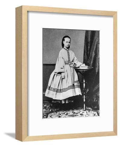 Grand Duchess Maria Alexandrovna of Russia, C1861-C1864--Framed Art Print