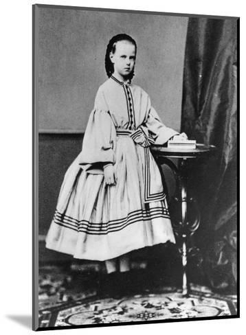 Grand Duchess Maria Alexandrovna of Russia, C1861-C1864--Mounted Giclee Print