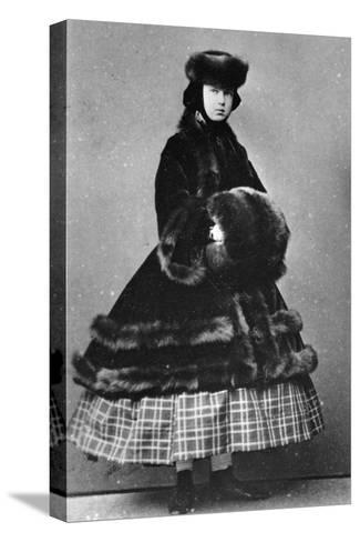 Grand Duchess Maria Alexandrovna of Russia, C1861-C1865--Stretched Canvas Print
