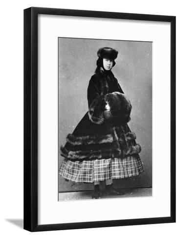 Grand Duchess Maria Alexandrovna of Russia, C1861-C1865--Framed Art Print