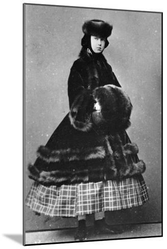 Grand Duchess Maria Alexandrovna of Russia, C1861-C1865--Mounted Giclee Print