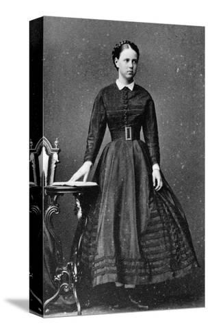 Grand Duchess Maria Alexandrovna of Russia, C1864-C1868--Stretched Canvas Print