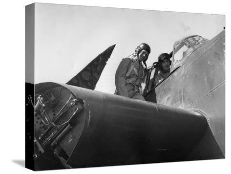 French Aviation Personnel Being Trained at the Naval Air Station, Quonset, Rhode Island, USA, 1951--Stretched Canvas Print