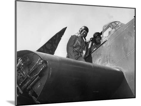 French Aviation Personnel Being Trained at the Naval Air Station, Quonset, Rhode Island, USA, 1951--Mounted Giclee Print