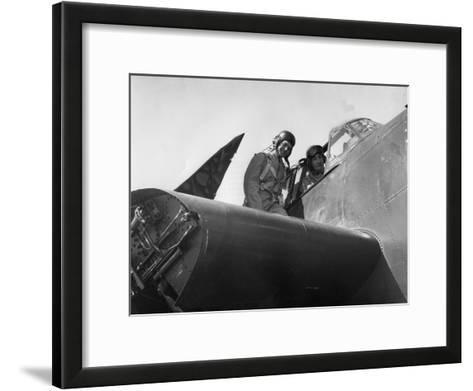 French Aviation Personnel Being Trained at the Naval Air Station, Quonset, Rhode Island, USA, 1951--Framed Art Print