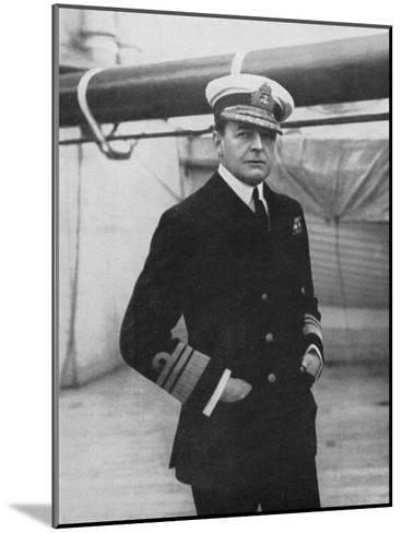 Admiral David Beatty (1871-193), British Naval Commander, World War I, 1914-1918--Mounted Giclee Print