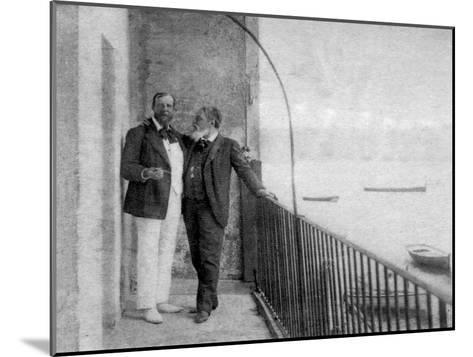 Paul Deroulede, French Author and Politician and Jean Mounet-Sully, French Actor, 1899--Mounted Giclee Print
