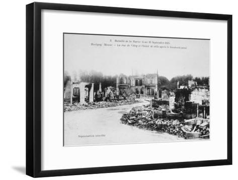The Ruins of Revigny, France, Battle of the Marne, World War I, 1914--Framed Art Print