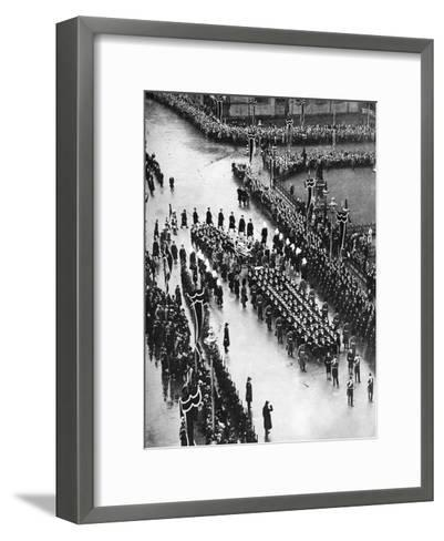 King George V's Funeral Procession Passing Out of Palace Yard, London, 1936--Framed Art Print
