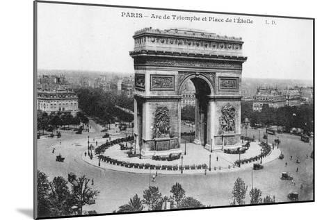 Arc De Triomphe and Place De L'Etoile, Paris, France, Early 20th Century--Mounted Giclee Print