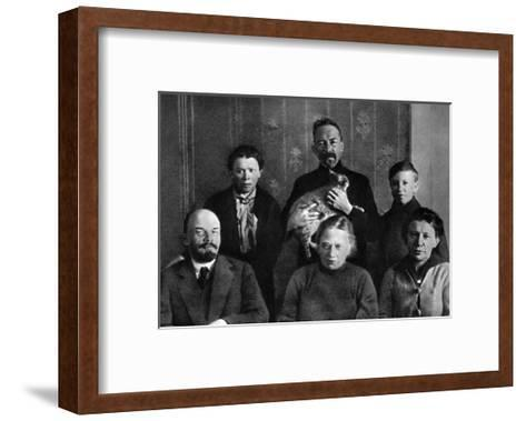 Lenin with Members of His Family in the Kremlin, Moscow, Russia, Autumn 1920--Framed Art Print