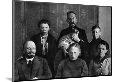 Lenin with Members of His Family in the Kremlin, Moscow, Russia, Autumn 1920--Mounted Giclee Print