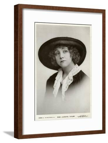 Laurette Taylor, American Actress, C1905-C1919-Foulsham and Banfield-Framed Art Print