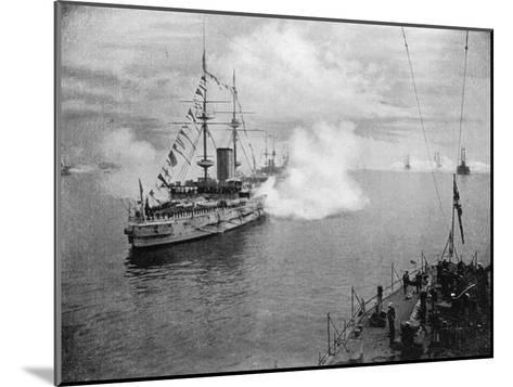 A Salute by the Home Fleet, 1907--Mounted Giclee Print