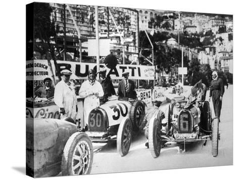 Scene During Practice for the Monaco Grand Prix, 1929--Stretched Canvas Print
