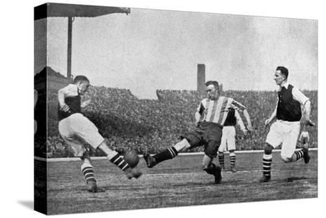 Action from an Arsenal V Sheffield United Football Match, C1927-1937--Stretched Canvas Print