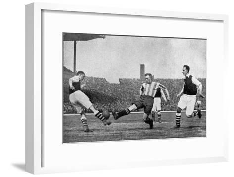 Action from an Arsenal V Sheffield United Football Match, C1927-1937--Framed Art Print