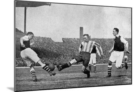 Action from an Arsenal V Sheffield United Football Match, C1927-1937--Mounted Giclee Print