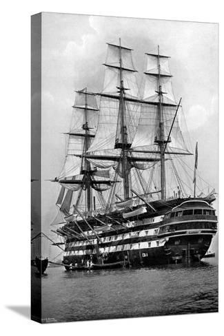 The Training Ship HMS 'St Vincent' at Portsmouth, Hampshire, 1896-Symonds & Co-Stretched Canvas Print