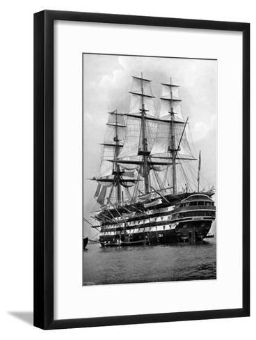 The Training Ship HMS 'St Vincent' at Portsmouth, Hampshire, 1896-Symonds & Co-Framed Art Print