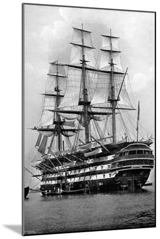 The Training Ship HMS 'St Vincent' at Portsmouth, Hampshire, 1896-Symonds & Co-Mounted Giclee Print