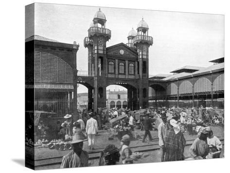 The Market Place, Port-Au-Prince, Haiti, 1926--Stretched Canvas Print