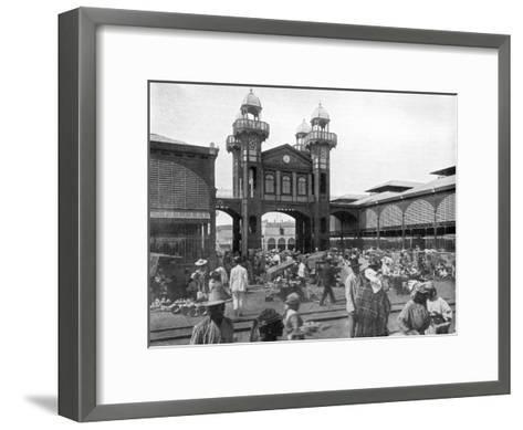 The Market Place, Port-Au-Prince, Haiti, 1926--Framed Art Print