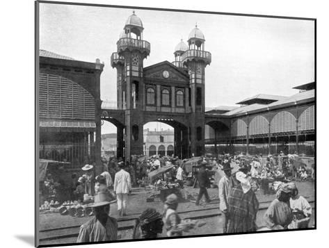 The Market Place, Port-Au-Prince, Haiti, 1926--Mounted Giclee Print