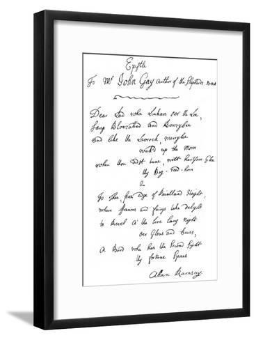 A Letter from Allan Ramsay to John Gay, 18th Century--Framed Art Print