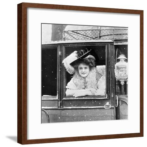 Billie Burke (1885-197), American Actress, 1908-1909-Alfred & Walery Ellis-Framed Art Print