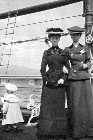 Prince Olav (1903-199) with Lady Antrim and Miss Knollys, 1908--Stretched Canvas Print