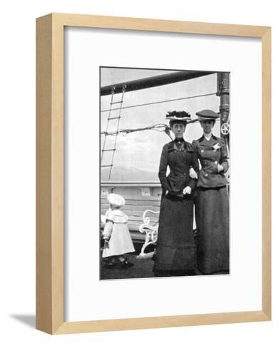 Prince Olav (1903-199) with Lady Antrim and Miss Knollys, 1908--Framed Art Print