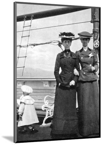 Prince Olav (1903-199) with Lady Antrim and Miss Knollys, 1908--Mounted Giclee Print