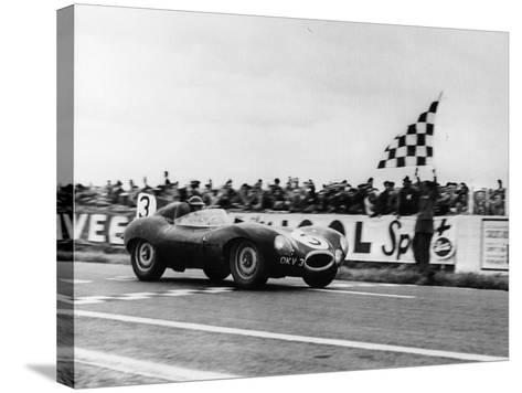 Ken Wharton in a Jaguar D Type, Rheims 12 Hours Race, France, 3rd July 1954--Stretched Canvas Print