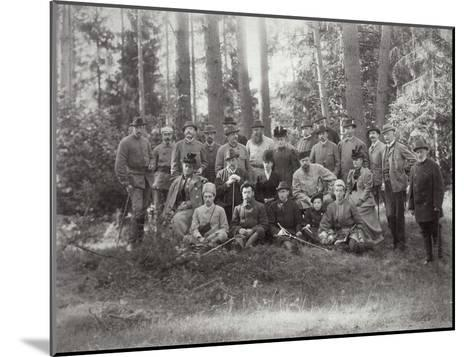 Tsar Alexander III with Family and Friends on a Hunt in the Bialowieza Forest, Russia, 1894--Mounted Giclee Print