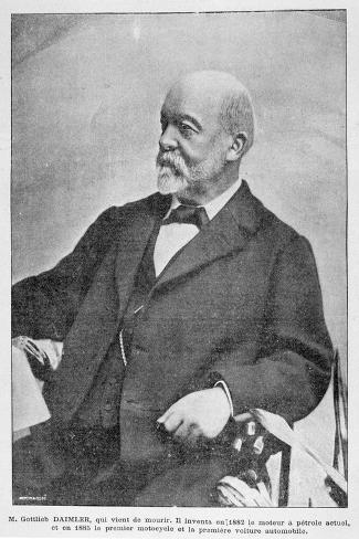 Gottlieb Daimler, German Industrial Pioneer, 1900--Stretched Canvas Print