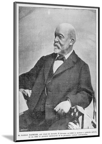Gottlieb Daimler, German Industrial Pioneer, 1900--Mounted Giclee Print